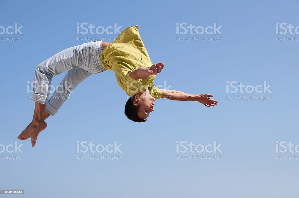 Somersault stock photo