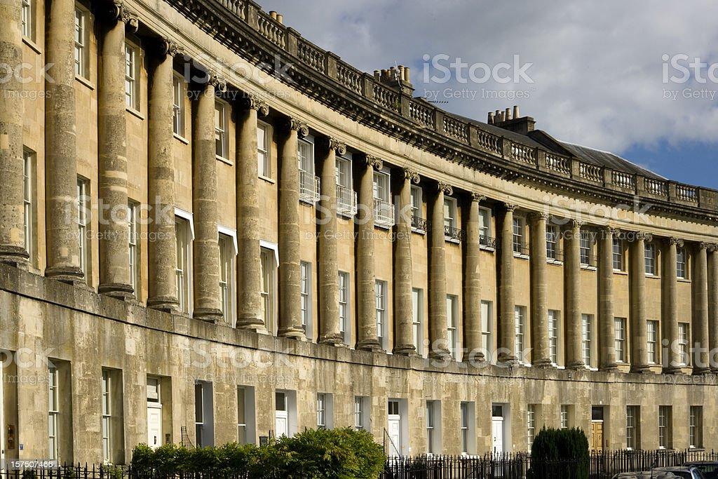UK, Somerset, Bath, World Heritage City, The Royal Crescent stock photo