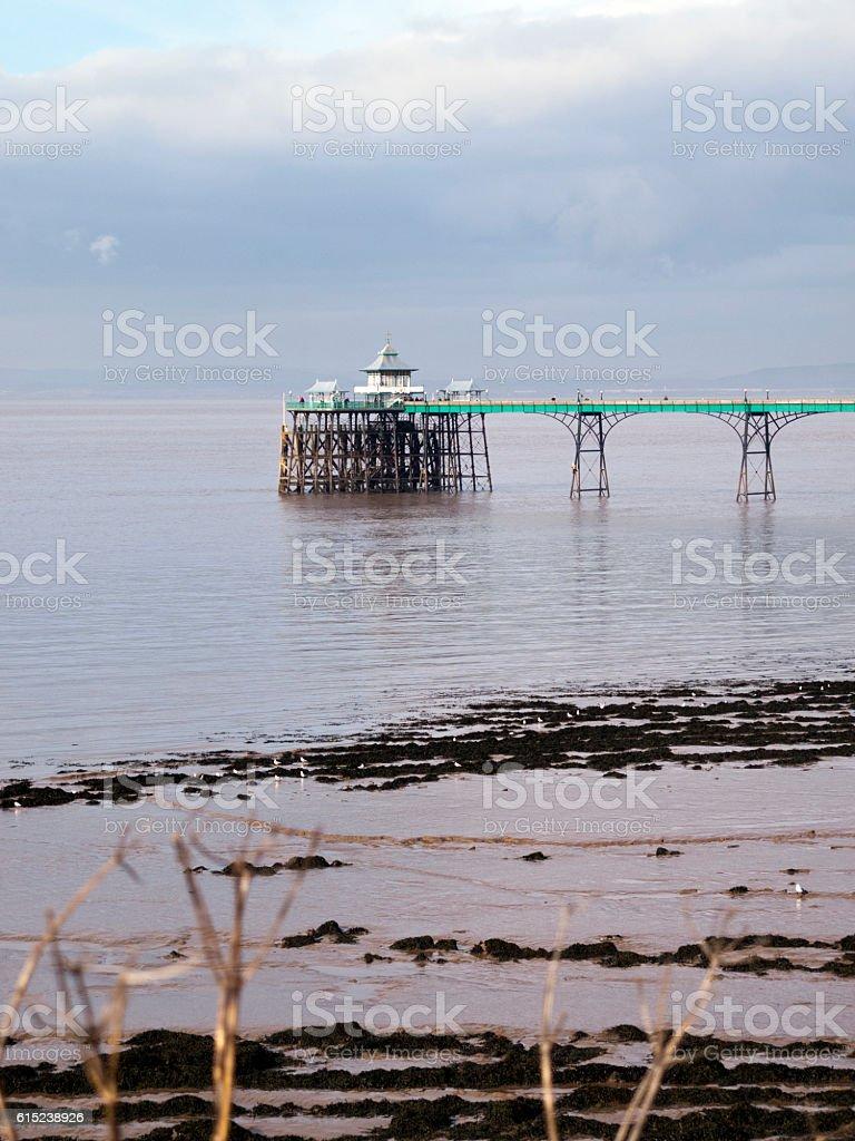 UK, Somerset, Clevedon pier stock photo