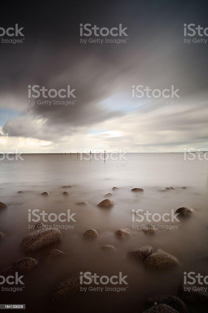 Somerset Coast stock photo