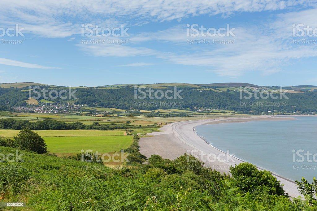 Somerset coast Porlock Somerset near Exmoor near Minehead stock photo