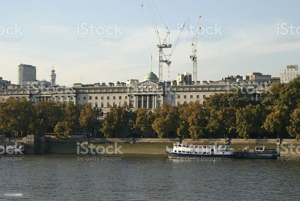 Somerset House over the River Thames stock photo