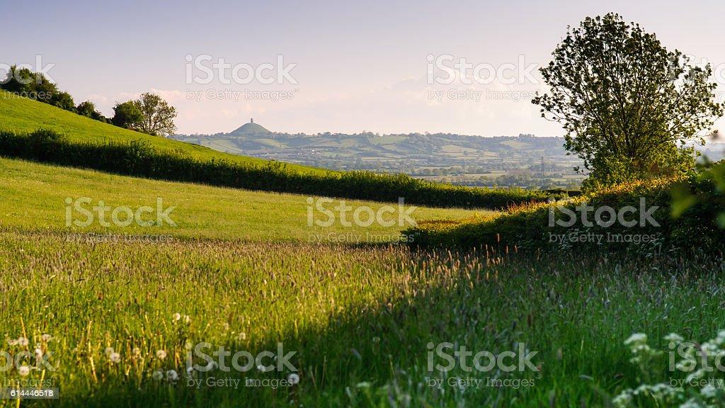 Somerset landscape stock photo