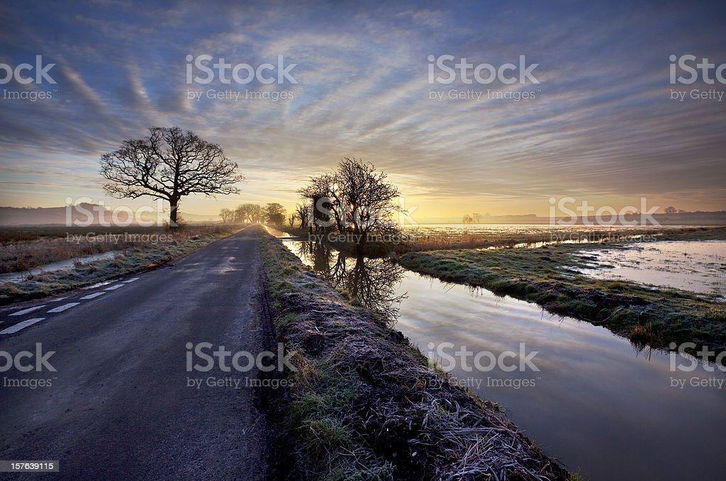 Somerset Levels stock photo