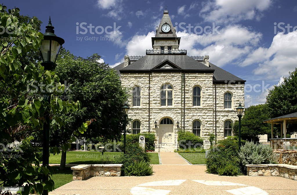 Somervell County Courthouse royalty-free stock photo