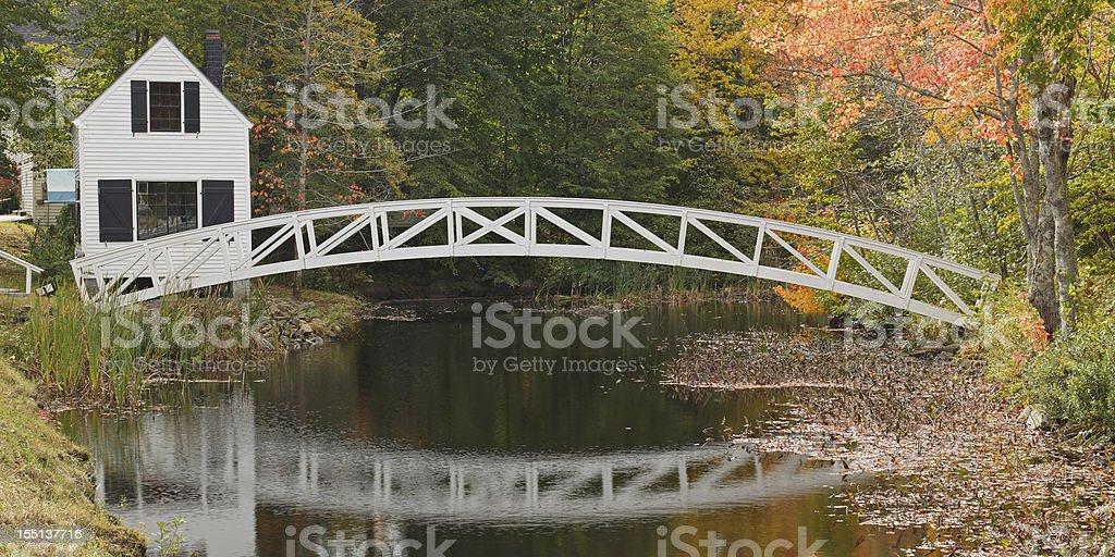 Somesville Bridge stock photo
