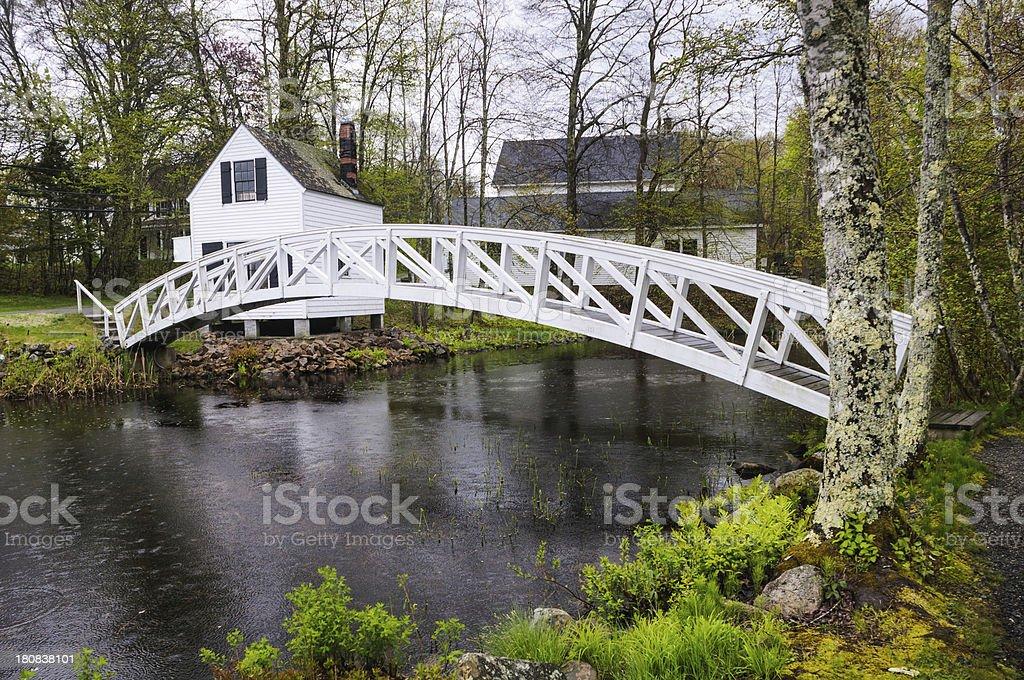 Somesville Footbridge stock photo