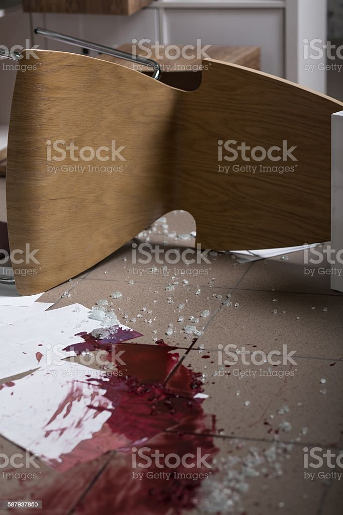 Something bad happened here stock photo