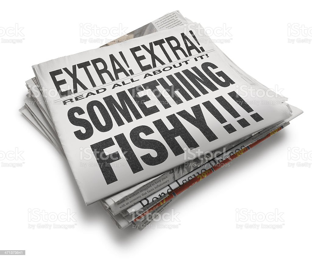 Something Fishy !!! stock photo