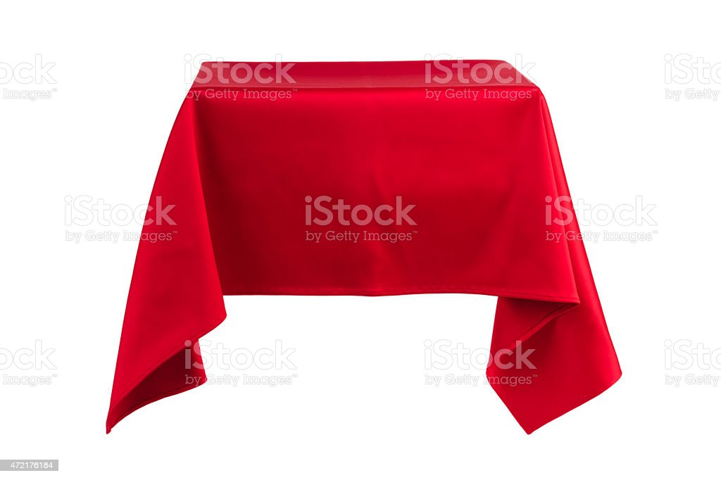 Something hanging in the air covered with cloth stock photo
