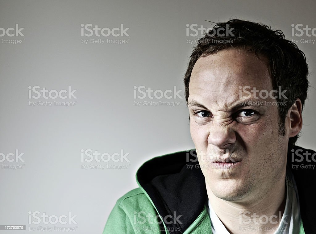 something stinks man royalty-free stock photo