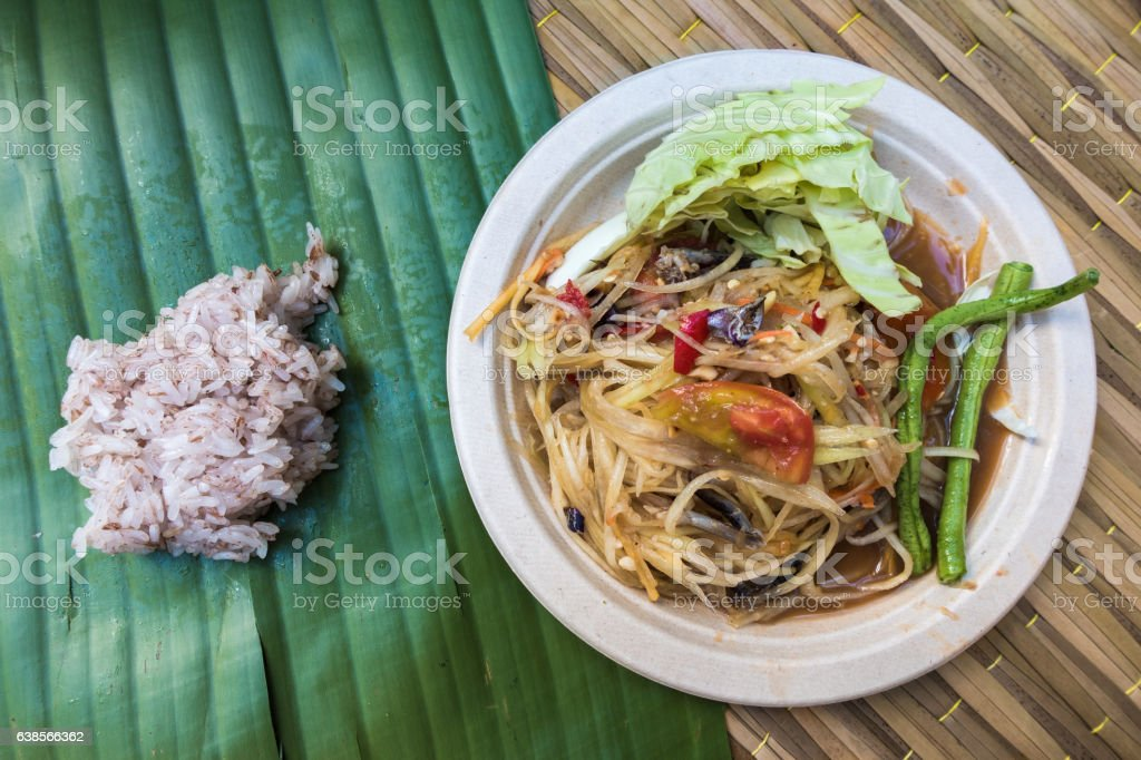 Sometime with sticky rice stock photo