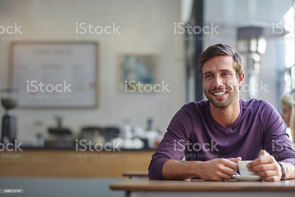 Sometimes a cup of coffee is all you need stock photo