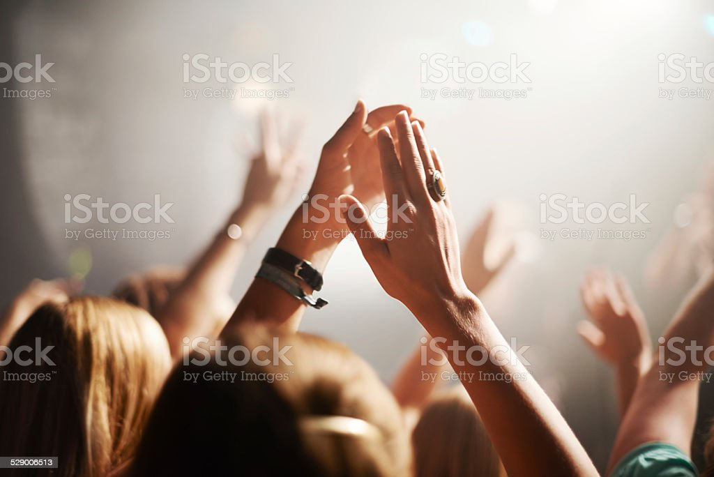 Sometimes all you can do is clap stock photo