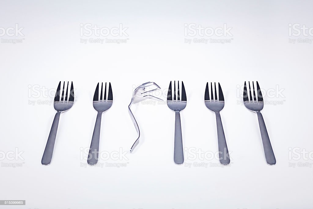 Sometimes being different has no benefits stock photo