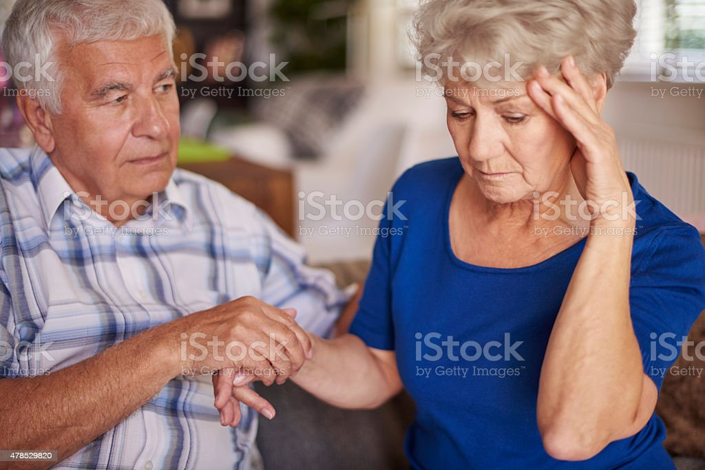 Sometimes silence is the best help stock photo