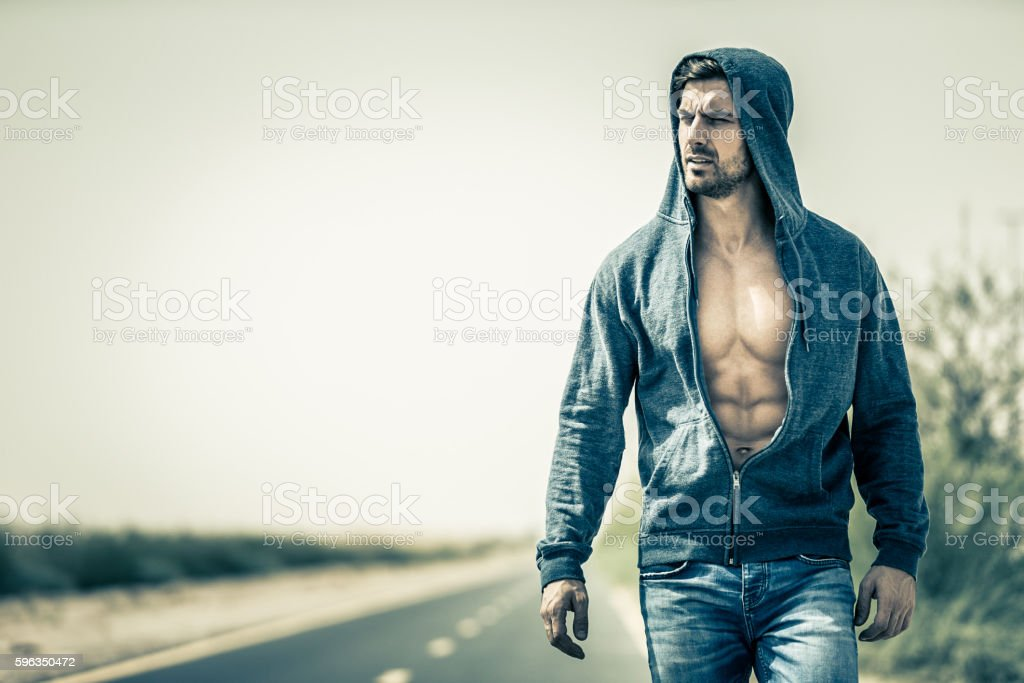 Sometimes we have to walk alone! stock photo
