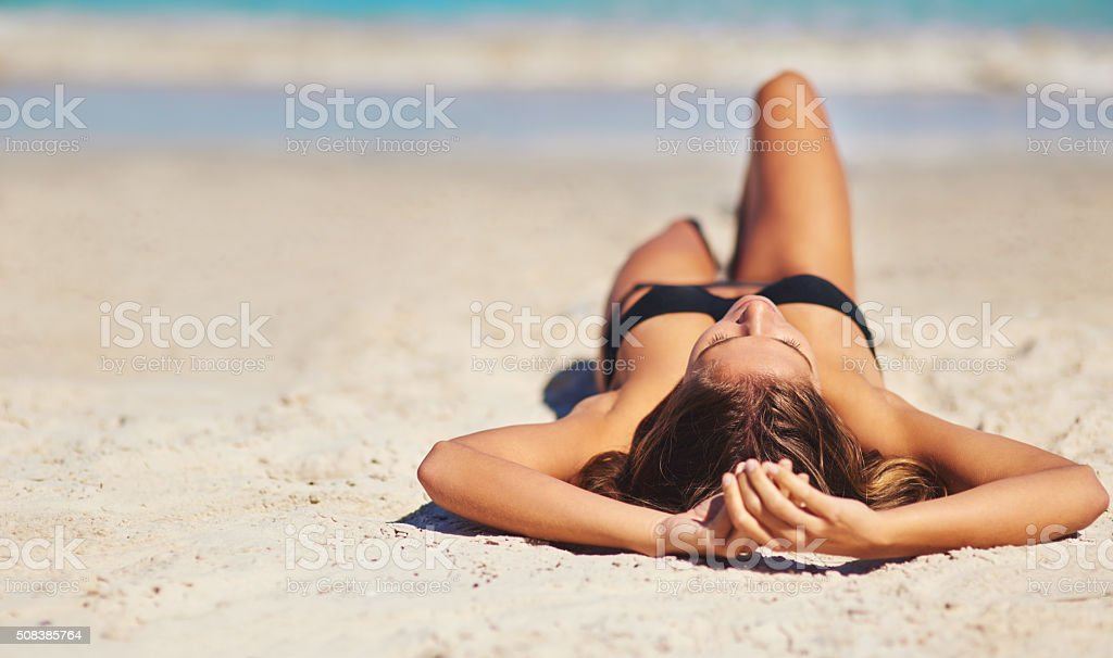 Sometimes you just need a beach day stock photo