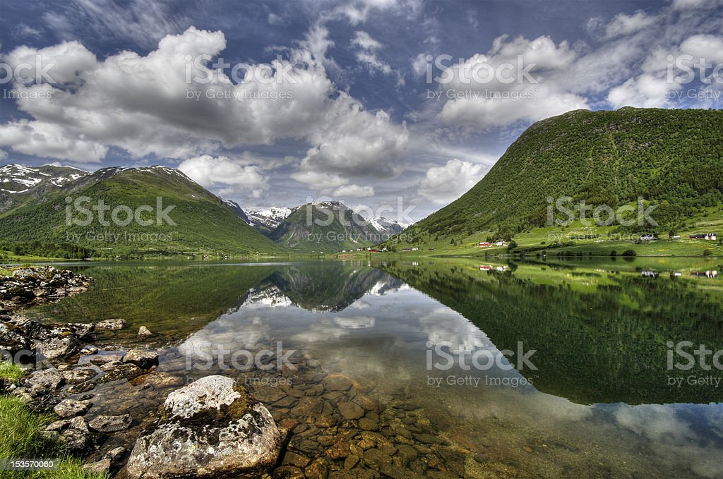 Somewhere in North Norway stock photo