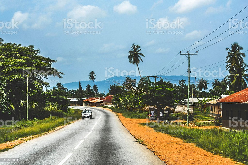 Somewhere in West Africa. stock photo