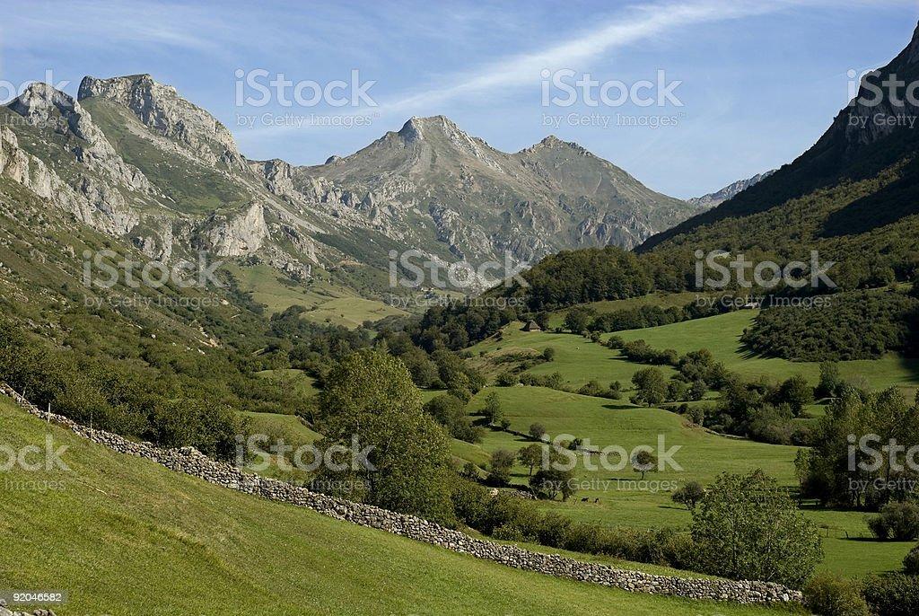 Somiedo Parque Natural, Astúrias foto de stock royalty-free