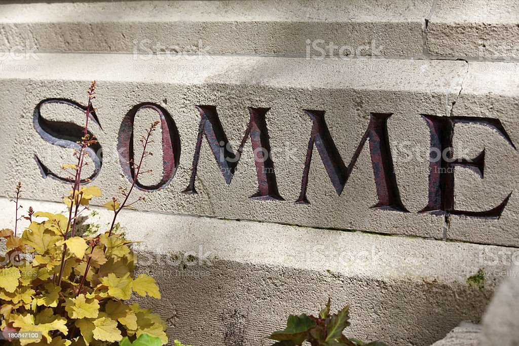 Somme Memorial royalty-free stock photo
