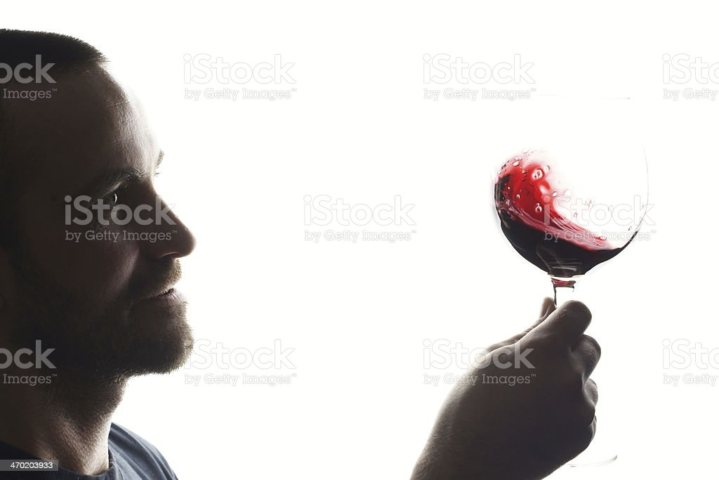Sommelier and wine stock photo
