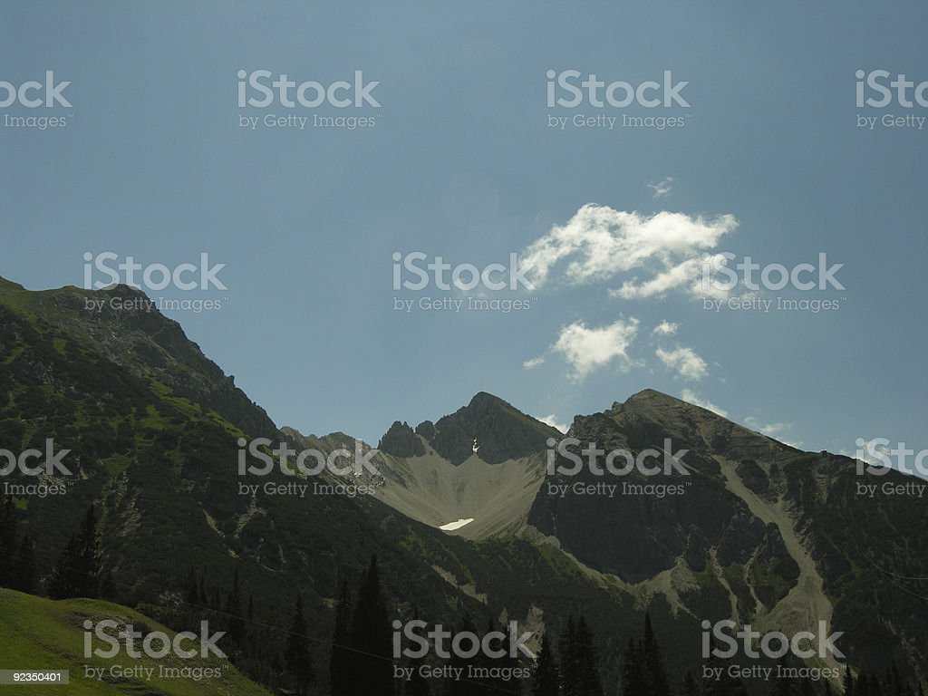 Sommer Snow in the Alps royalty-free stock photo