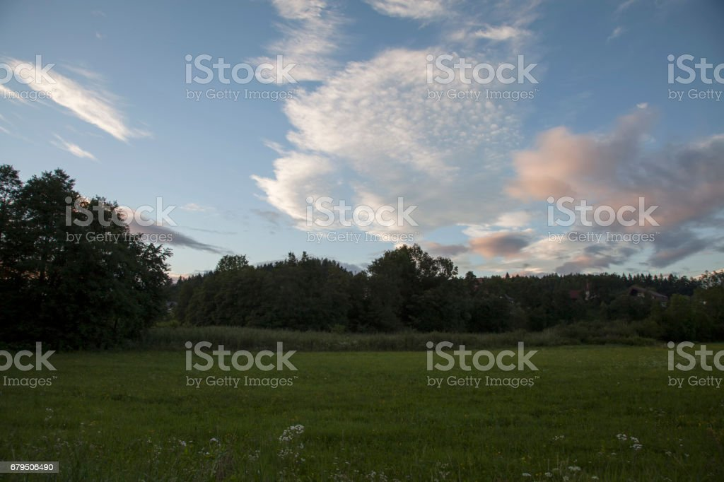 Sommerabend stock photo