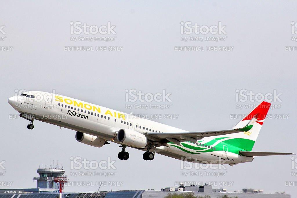 Somon Air Boeing 737 stock photo
