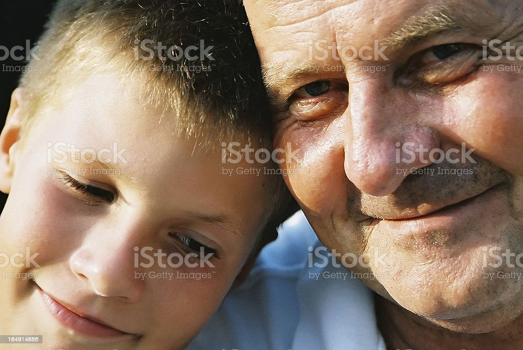 Son and father stock photo