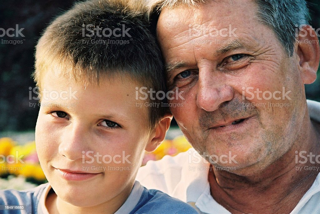 Son and father royalty-free stock photo