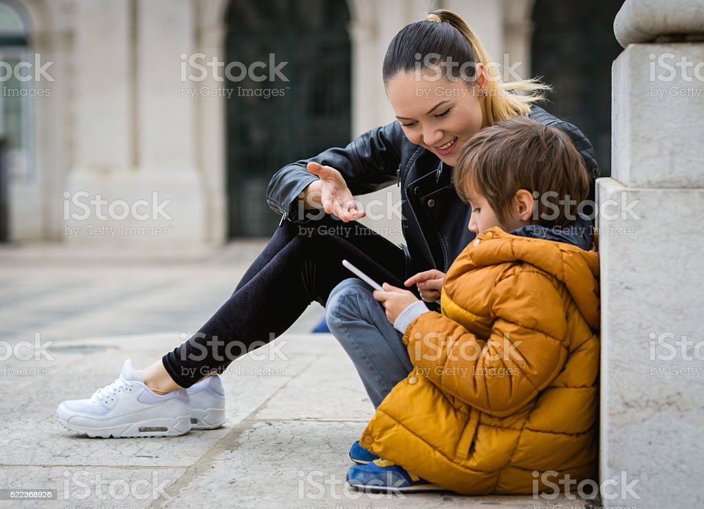 Son and Mom stock photo