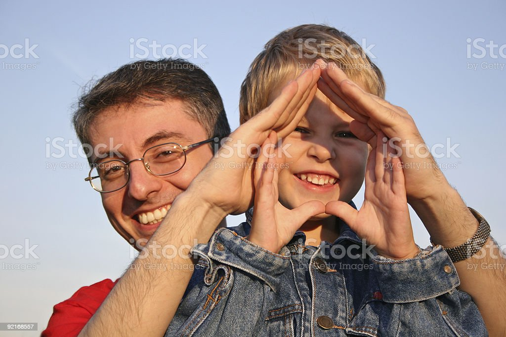 son in hand house royalty-free stock photo