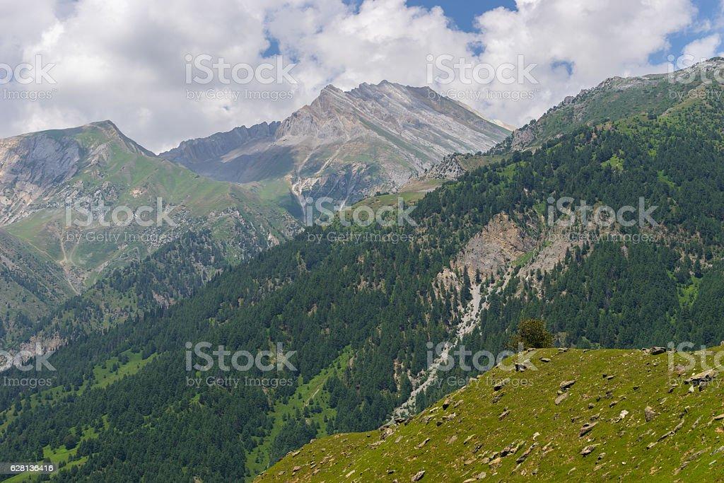 Sonamarg mountain landscape in summer, Srinagar, India stock photo
