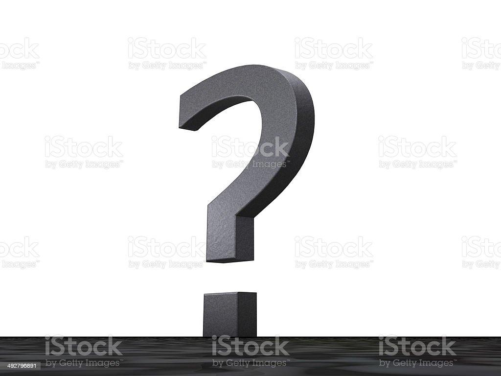 3D Sonderzeichen - Fragezeichen stock photo