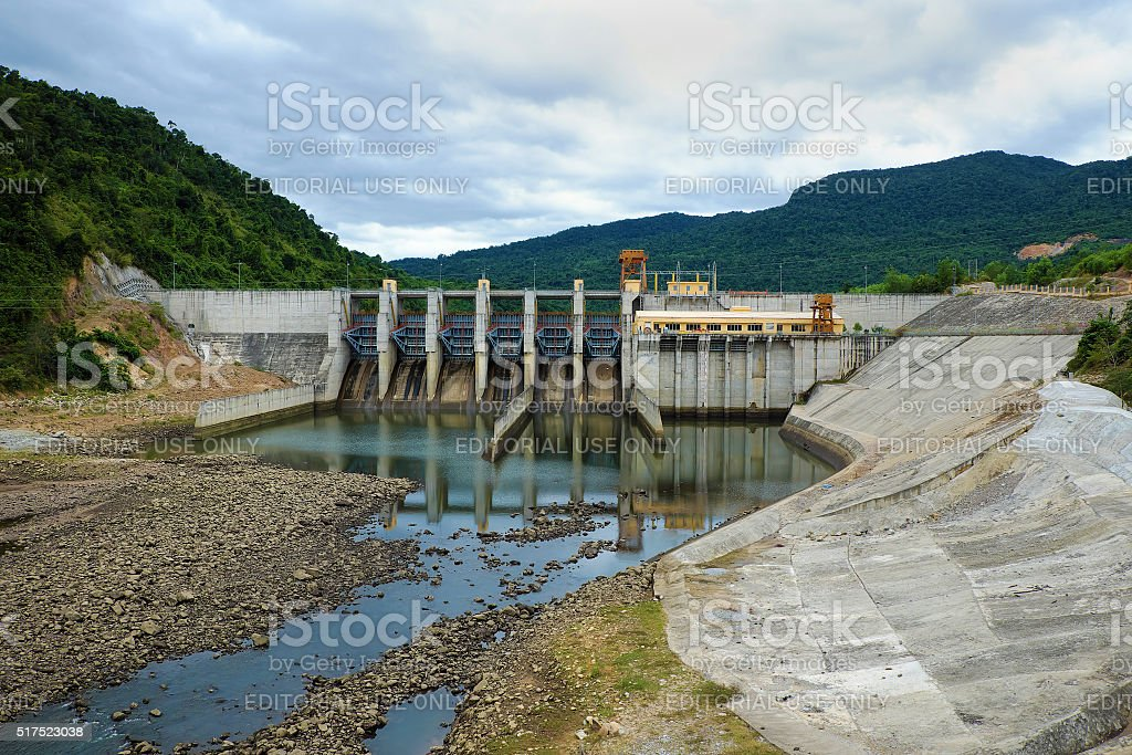 Song Bung hydroelectric plant, energy stock photo