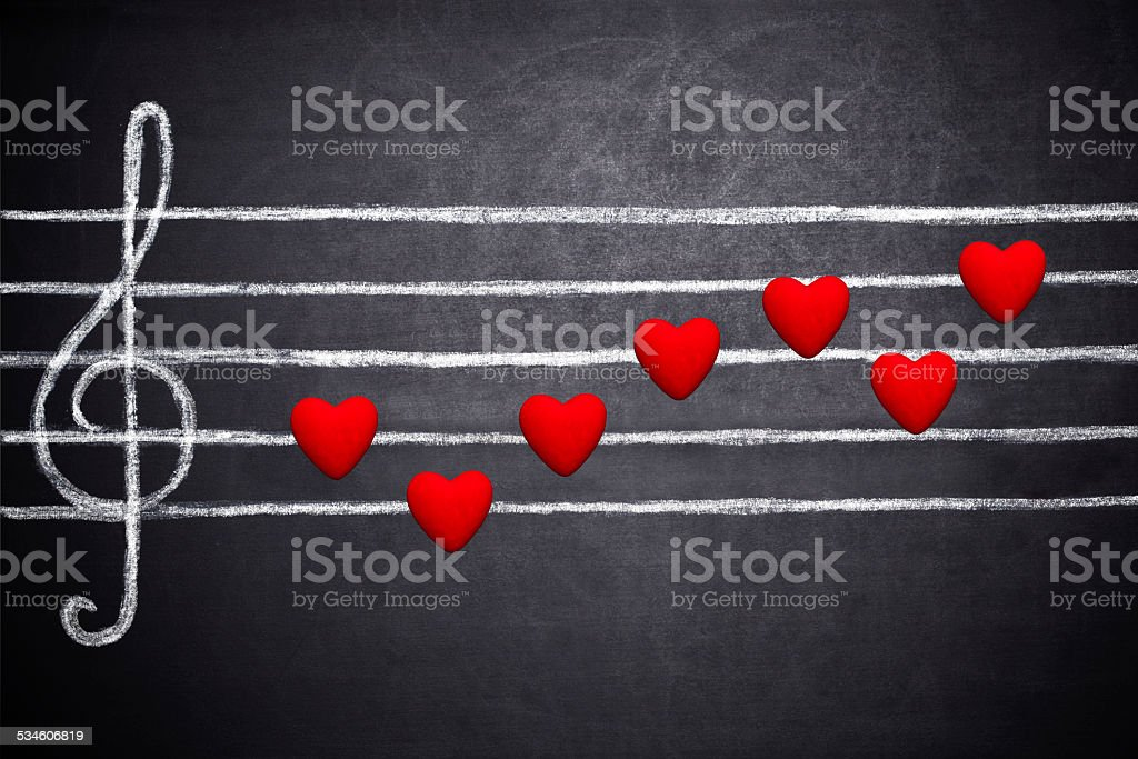 Song of love stock photo