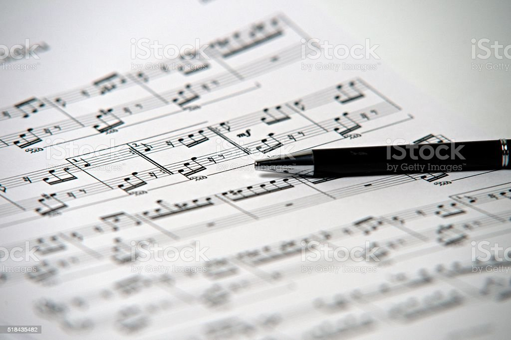 song writen by Beethoven  - Ode to Joy stock photo