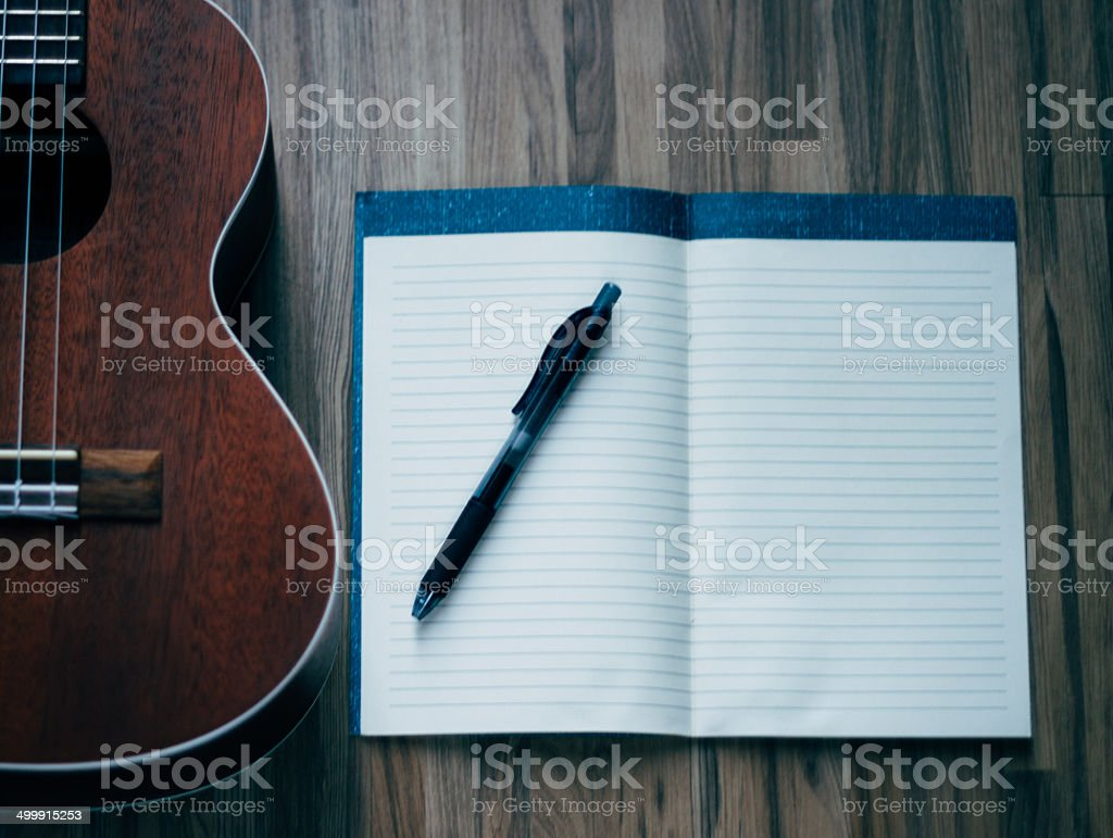 song writing stock photo