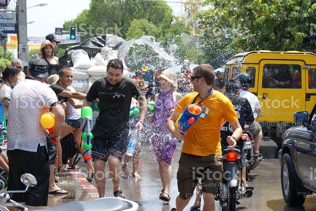 Songkran Days royalty-free stock photo