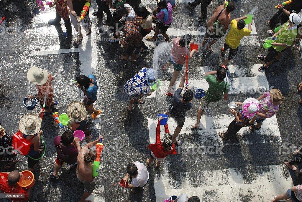 Songkran Festival, Chiang Mai, Thailand stock photo