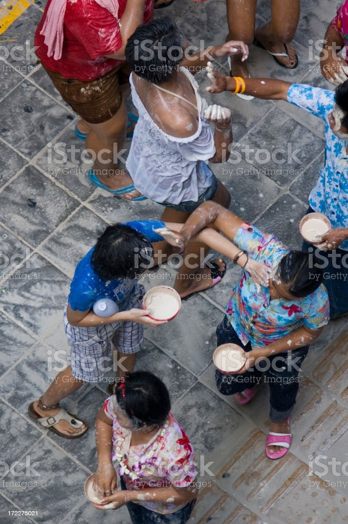 Songkran in Bangkok royalty-free stock photo