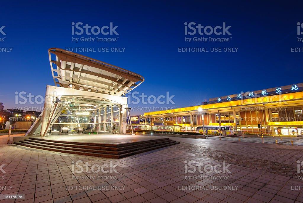 MRT Songshan Airport station stock photo