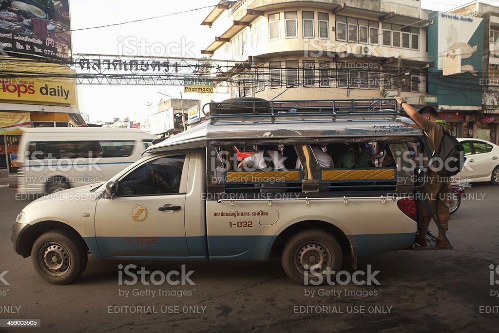 Songthaew - Surat Thani, Thailand royalty-free stock photo