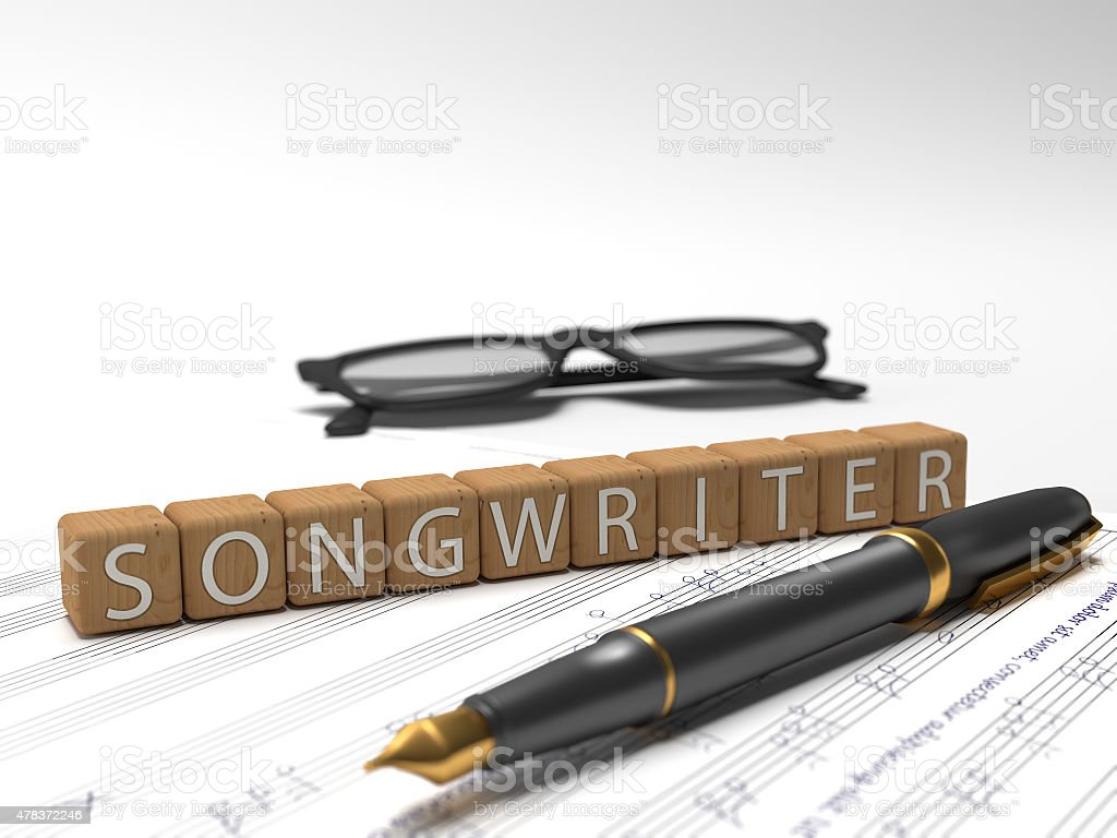 Songwriter stock photo