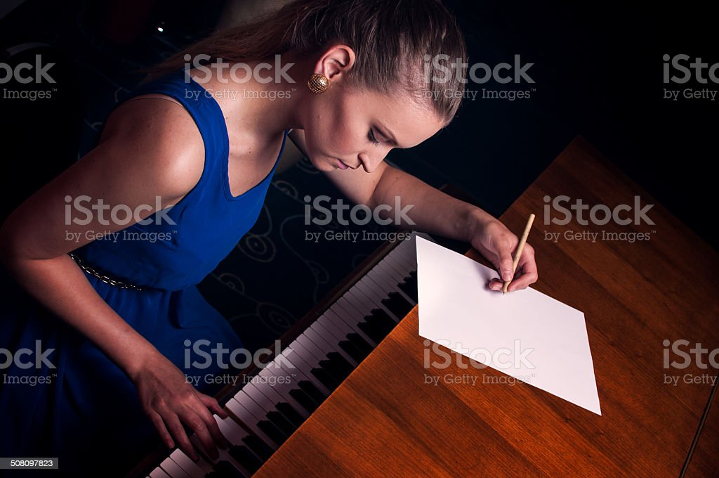 Songwritting stock photo