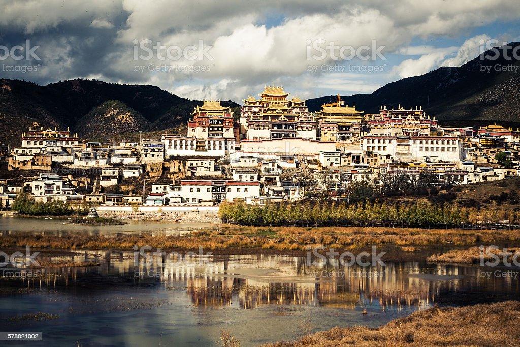 Songzanlin Monastery, Shangri-la, China stock photo