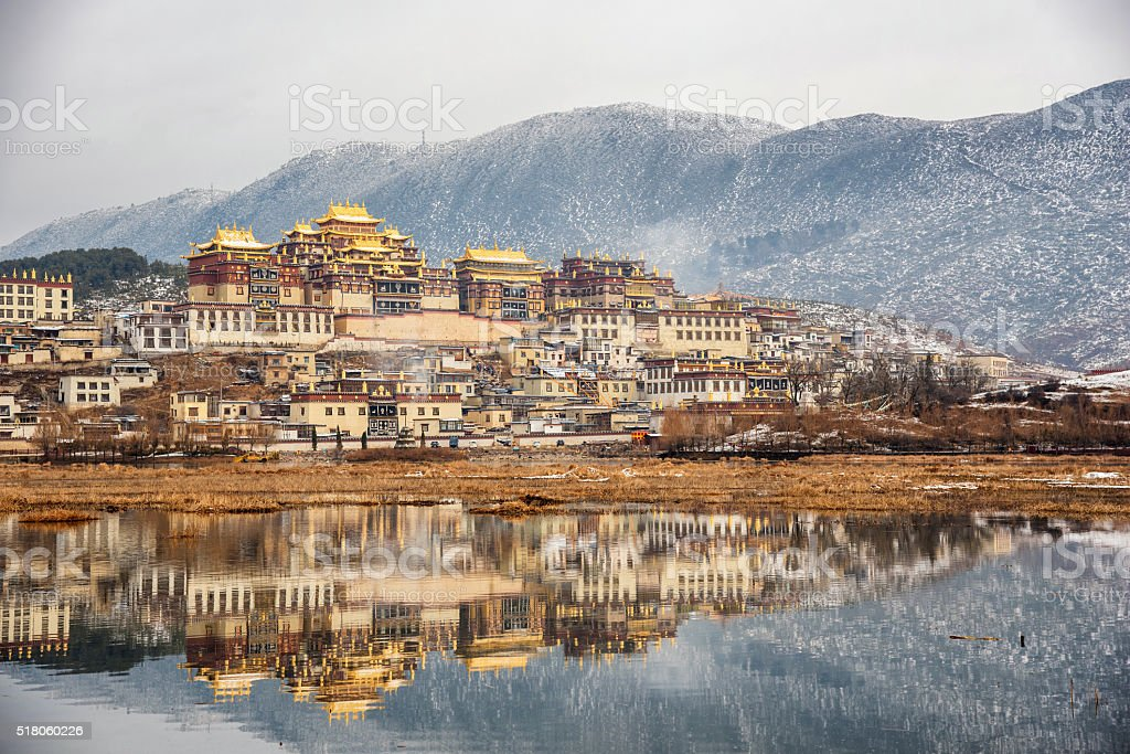 Songzanlin Temple also known as the Ganden Sumtseling Monastery, stock photo