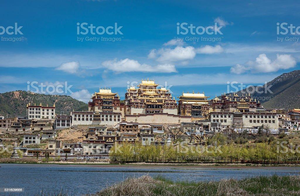 Songzanlin Temple also known as the Ganden Sumtseling Monastery stock photo
